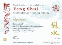Certificate of Completion Feng Shui International Training Course