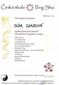 Česká škola Feng Shui - Pokročilý kurz